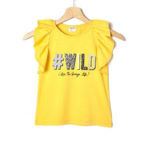 Αμάνικο Μπλουζάκι Jersey Κίτρινο με Στάμπα Μεγ.8-9/9-10 ετών για Κορίτσι