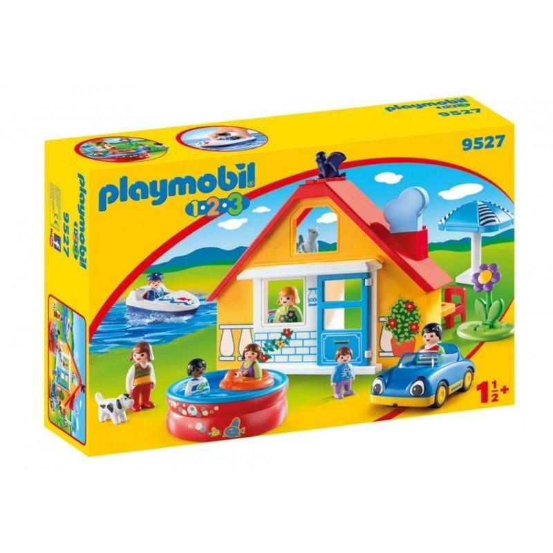 Playmobil 1.2.3 Εξοχικό Σπίτι 1.2.3  με βάρκα & αυτοκίνητο 9527