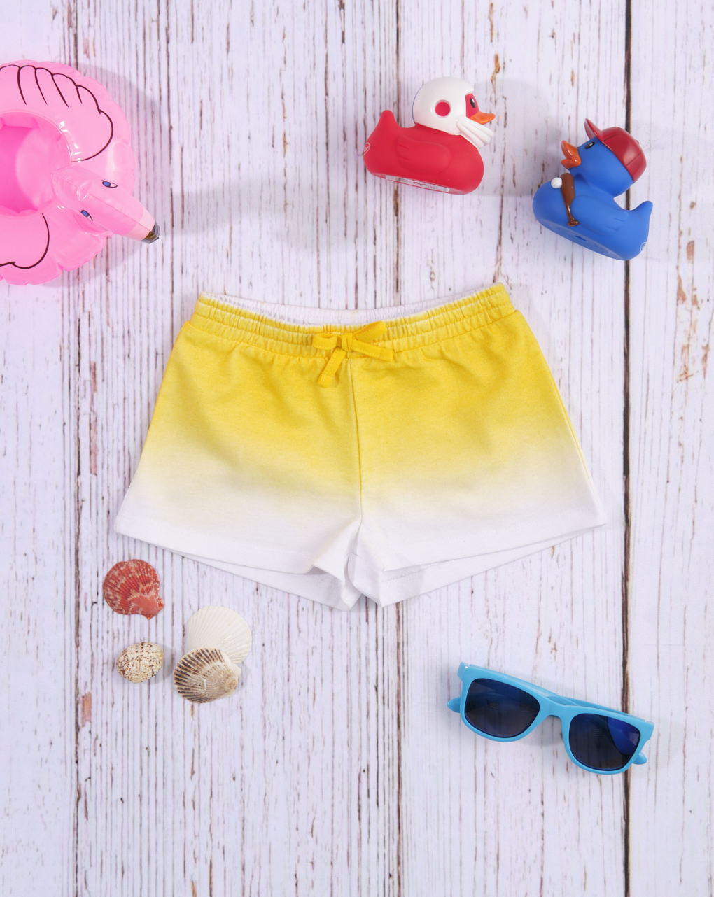 Σορτσάκι Jersey Κίτρινο Σκιασμένο για Κορίτσι