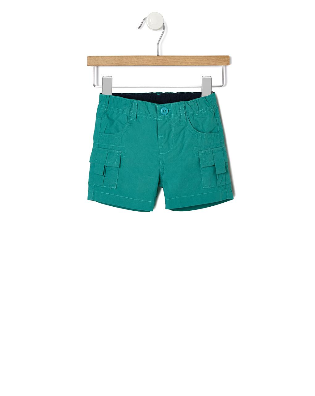 Βερμούδα Πράσινη με Τσέπες για Αγόρι