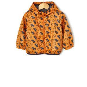 Μπουφάν Αντιανεμικό Πορτοκαλί για Αγόρι
