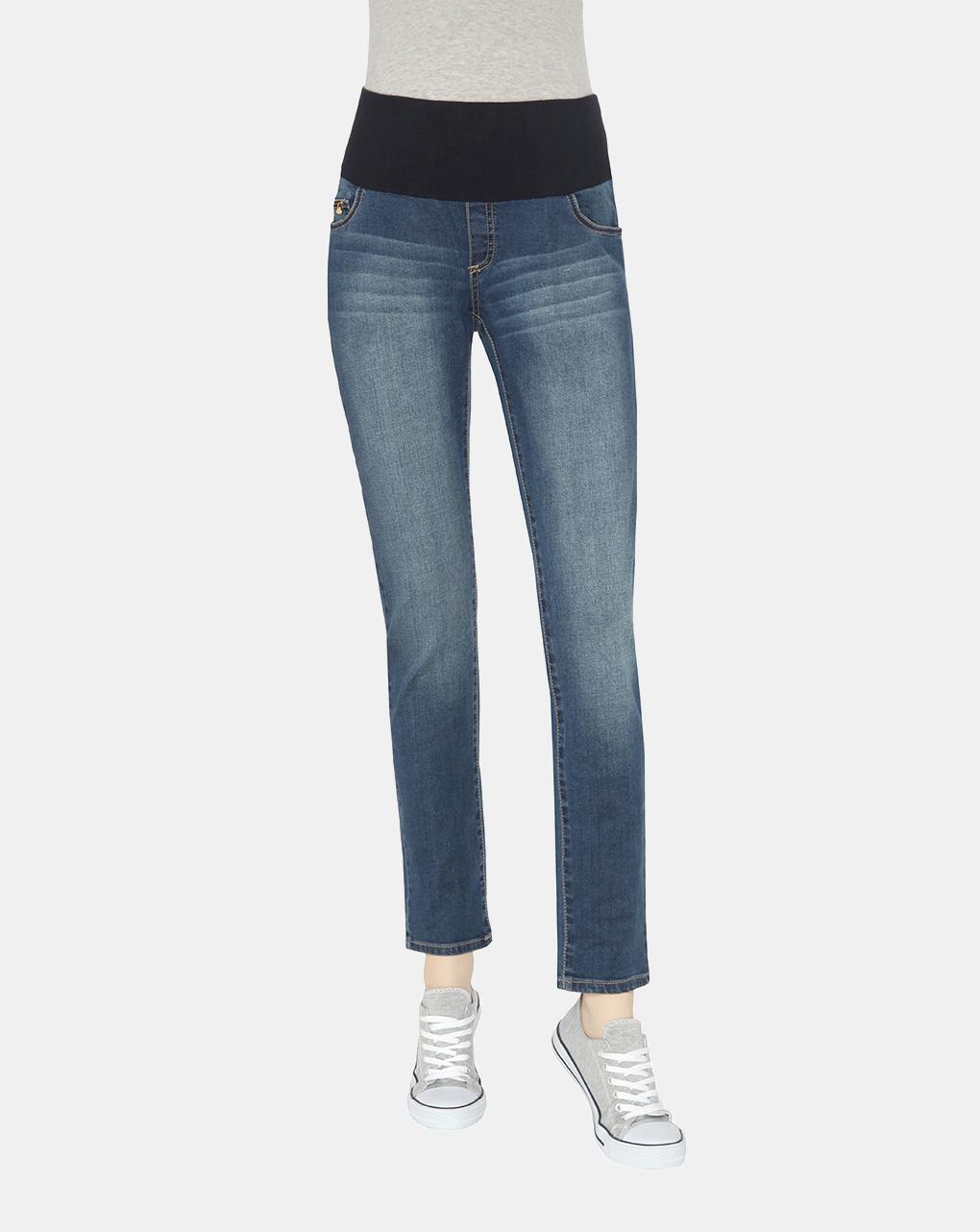 Γυναικείο Denim Παντελόνι Slim Fit Ελαστικό