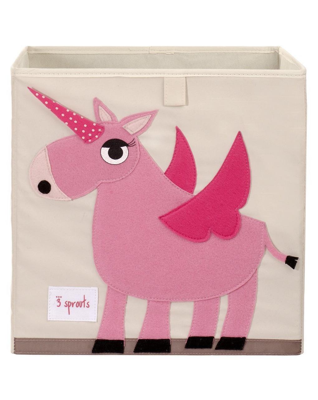 3 Sprouts Κουτί Αποθήκευσης Παιχνιδιών Unicorn