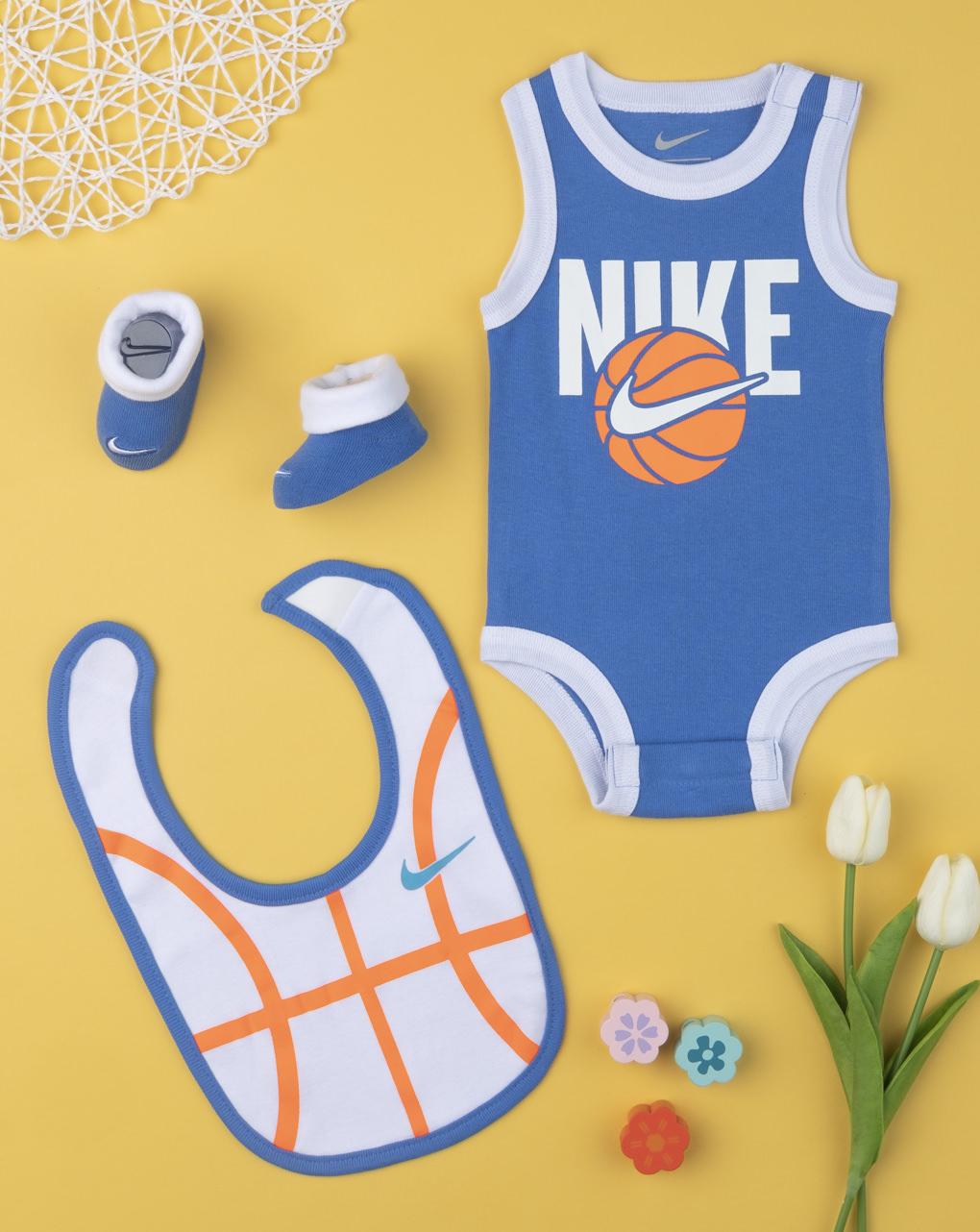 Σετ Nike Κορμάκι-σαλιάρα-καλτσάκια για Αγόρι 0-6μηνών