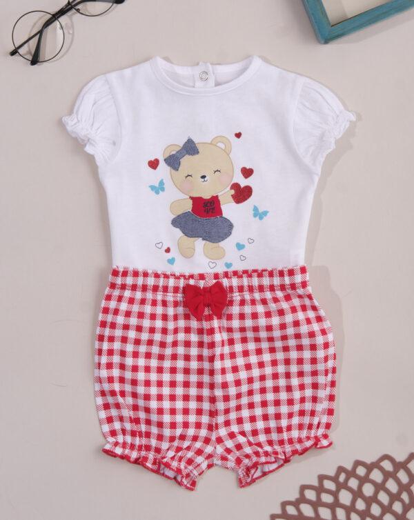 Σετ T-shirt Σορτς Καρό για Κορίτσι
