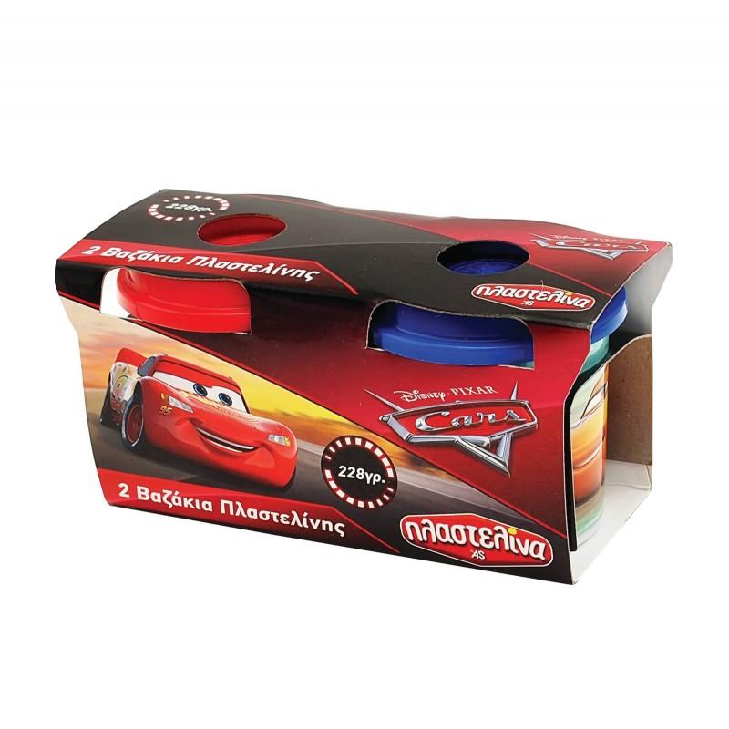 Σετ 2 Βαζάκια Πλαστελίνης Cars 1045-03546