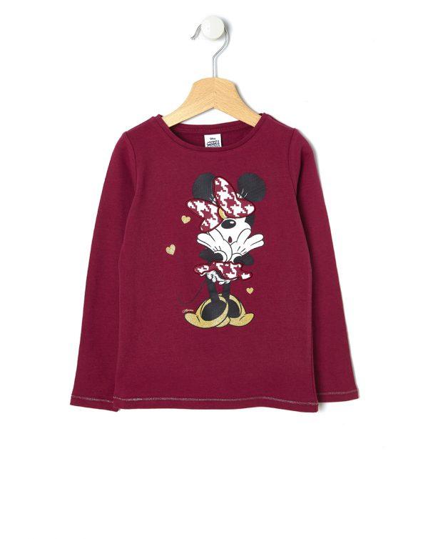 T-shirt Μaxi με Στάμπα Minnie για Κορίτσι