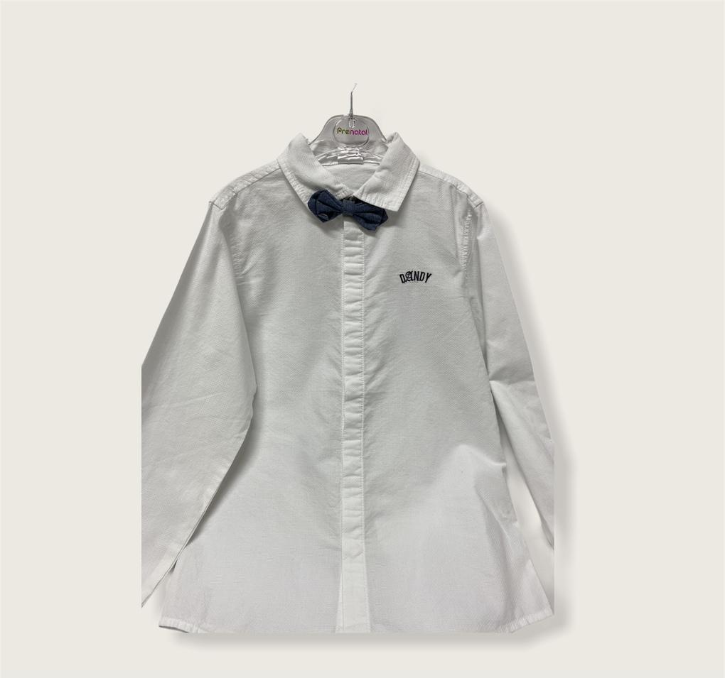 Πουκάμισο Λευκό Elegant με Παπιγιόν 8-10 ετών