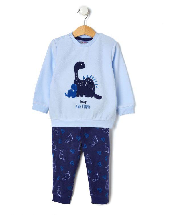 Πιτζάμα Φλις με Δεινόσαυρους για Αγόρι
