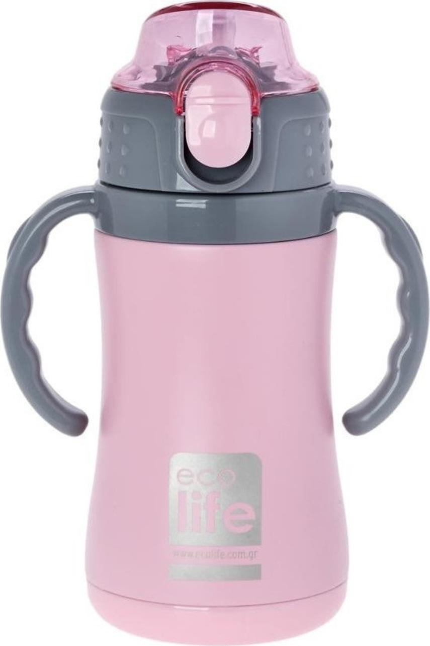 Ecolife Ανοξείδωτο Παγούρι Kids Thermos Small 300ml-Ροζ