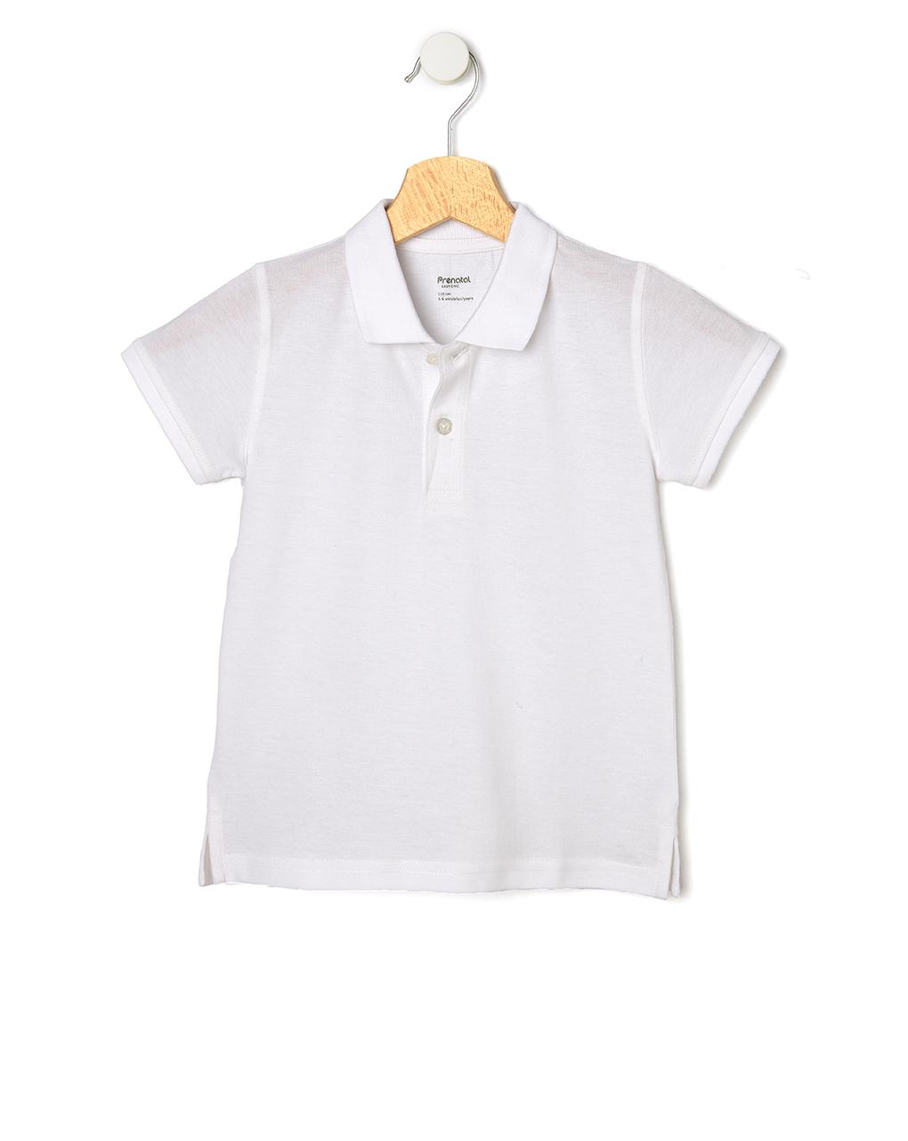 Mπλούζα Πόλο Πικέ Λευκή Μεγ.8-9/9-10 Ετών για Αγόρι