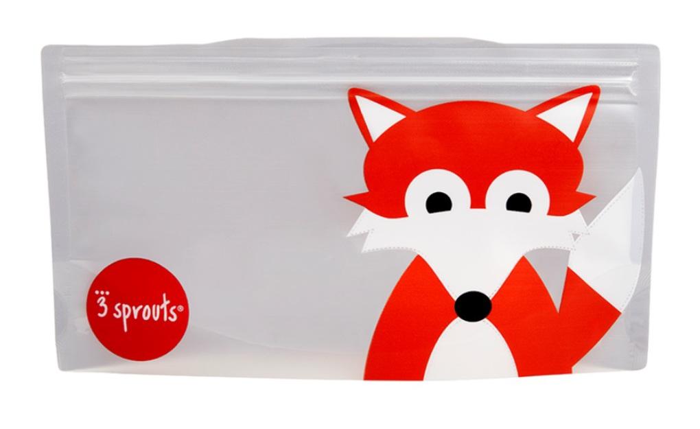 3Sprouts Θήκες Σνακ-Bag Fox (2 Τμχ)