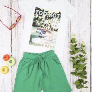 Σετ T-Shirt και Σορτς Jersey Basic για Αγόρι