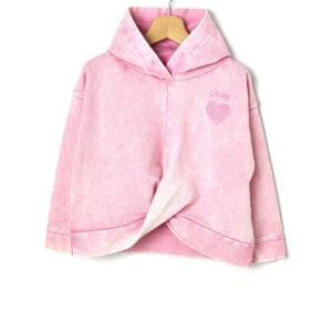 Μπλούζα Φούτερ με Κουκούλα Ροζ για Κορίτσι