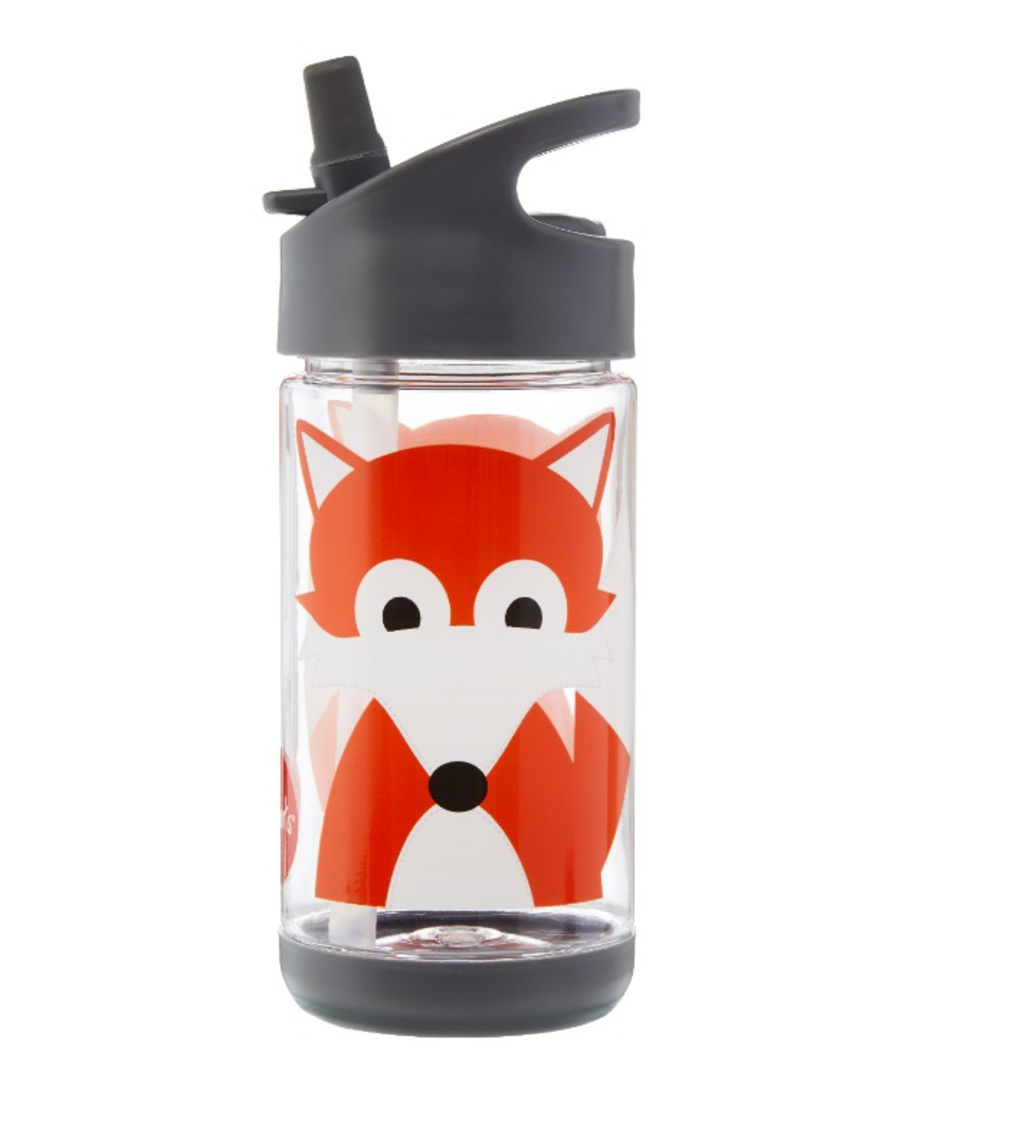 3Sprouts Παγούρι Με Καλαμάκι- Fox