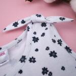 Φόρεμα Jersey Λευκό Εμπριμέ με Λουλούδια για Κορίτσι