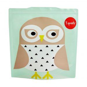 3Sprouts Θήκες Για Τα Σάντουιτς-Owl (2 Τμχ)