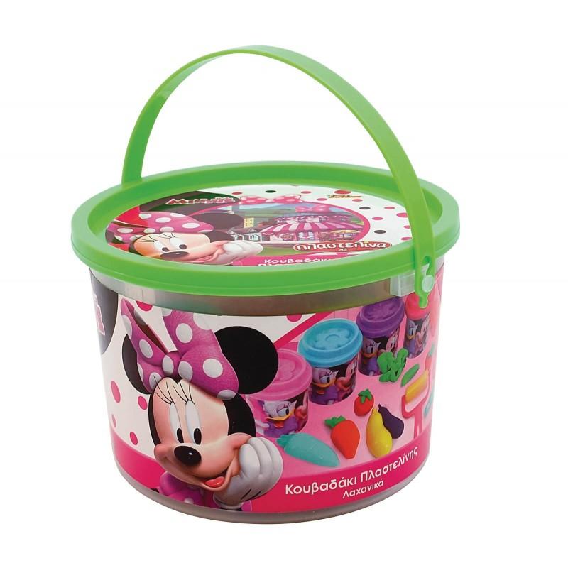 Πλαστελίνα Κουβαδάκι Με 4 Βαζάκια Πλαστελίνης Και Εργαλεία Minnie 1045-03571 3 Χρώματα