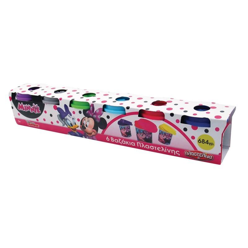 Πλαστελίνα Σετ 6 Βαζάκια Πλαστελίνης Minnie 1045-03570