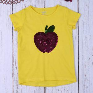 T-Shirt Jersey Κίτρινο με Παγιέτες για Κορίτσι