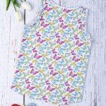 Μπλούζα Αμάνικη Jersey με Πεταλούδες για Κορίτσι