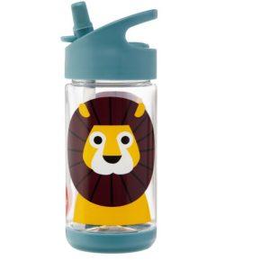 3Sprouts Παγούρι Με Καλαμάκι- Lion