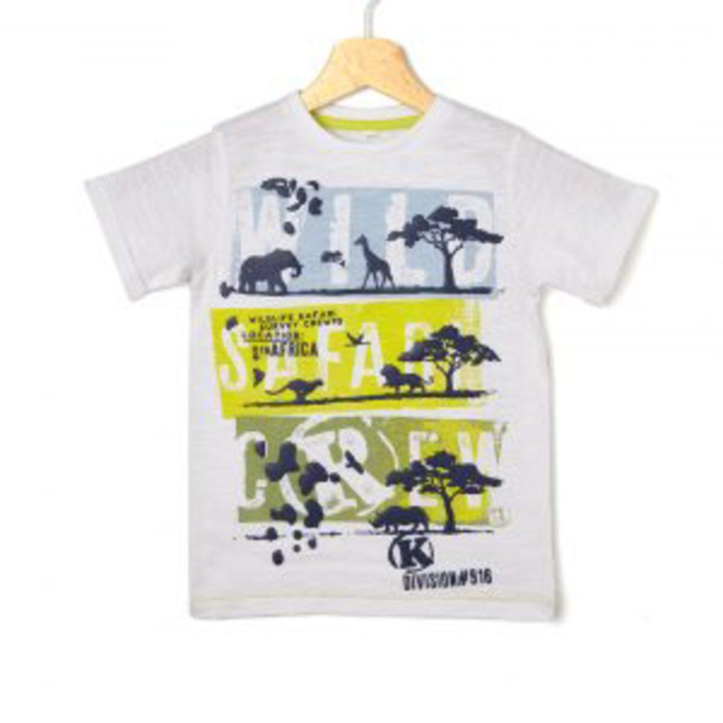 T-shirt Λευκό με Στάμπα Μεγ.8-9/9-10 Ετών για Αγόρι