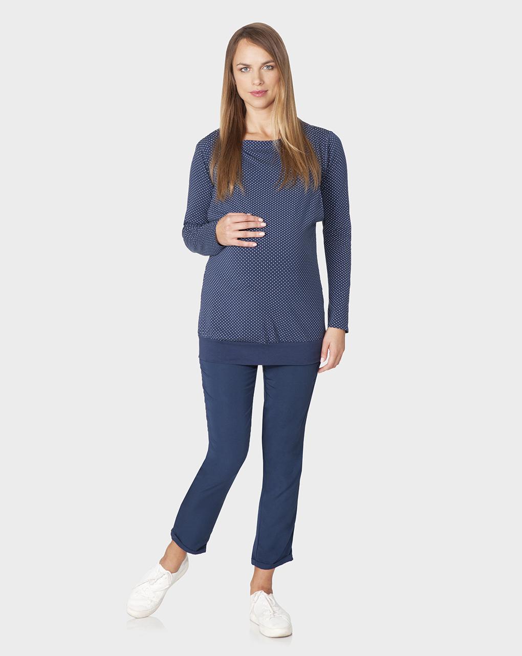 Γυναικείο Παντελόνι Εγκυμοσύνης Ψηλόμεσο Μπλε
