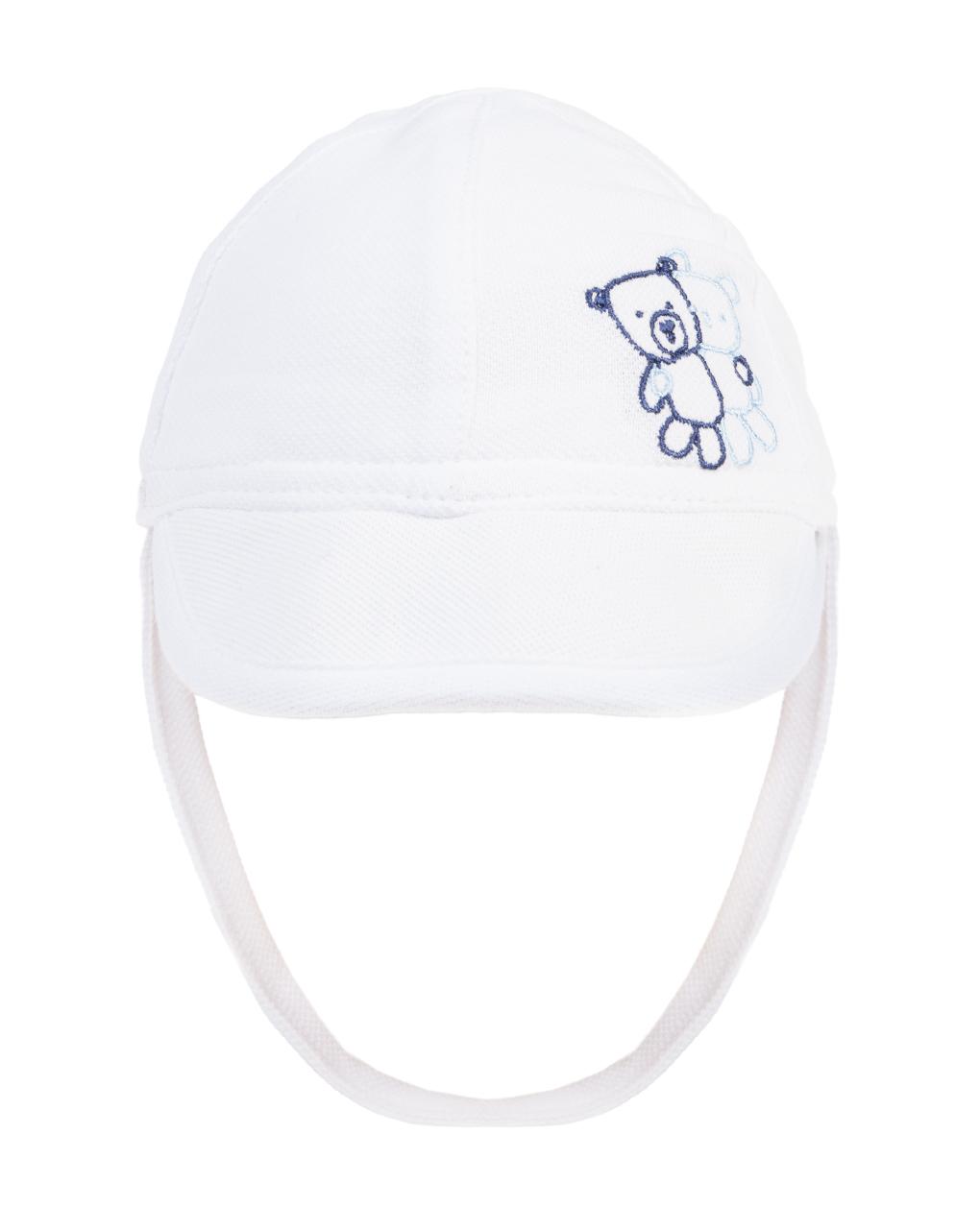 Καπέλο Πικέ Λευκό για Αγόρι