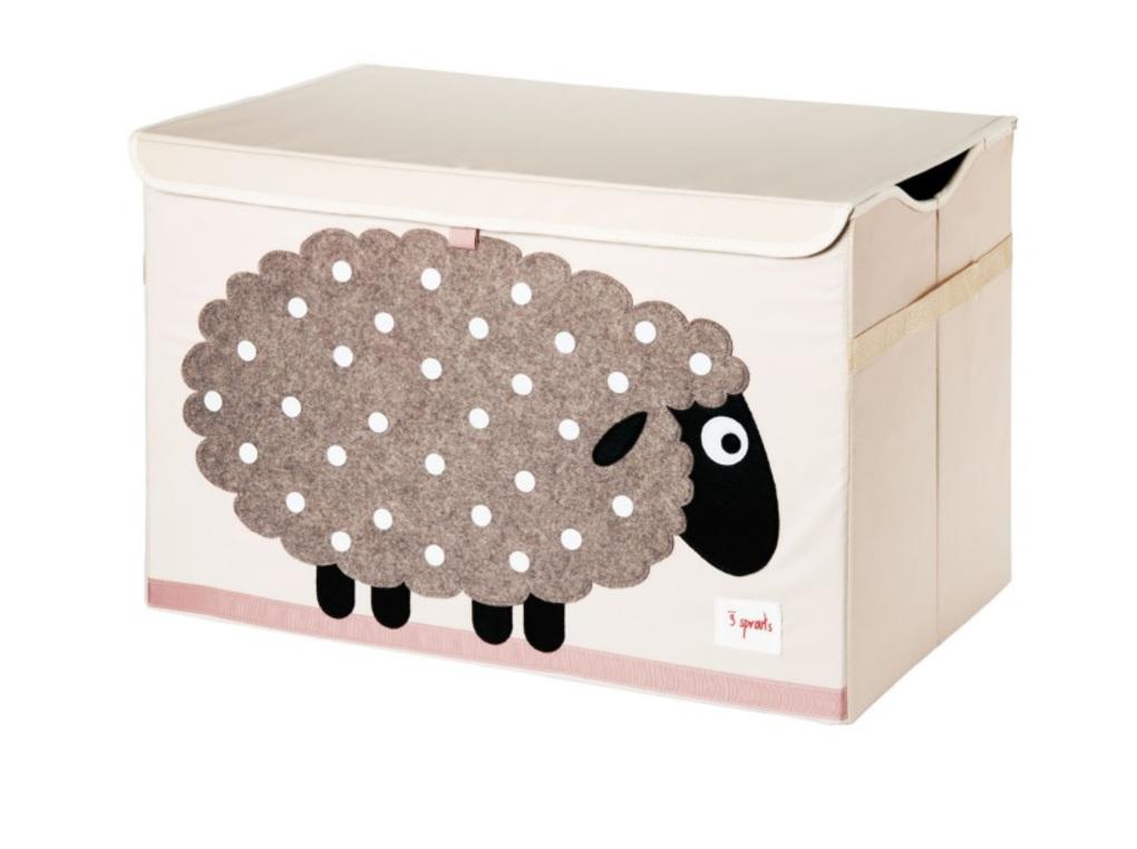 3Sprouts Καλάθι Για Παιχνίδια Με Καπάκι-Sheep