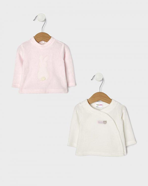 Μπλούζα Μακρυμάνικη Σενίλ Πακέτο Χ2 για Κορίτσι