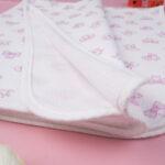 Καλοκαιρινή Κουβέρτα για Λίκνο Λευκή με Φιογκάκια
