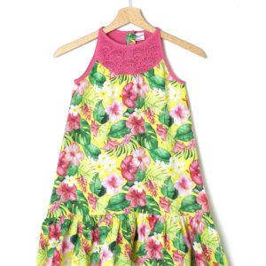 Φόρεμα Αμάνικο Τρόπικαλ για Κορίτσι