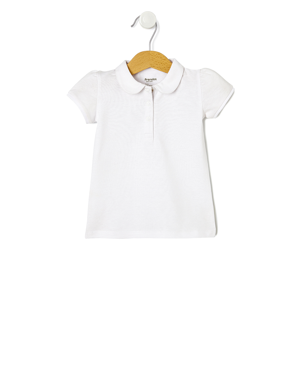 T-Shirt Πόλο Πικέ Λευκό για Κορίτσι