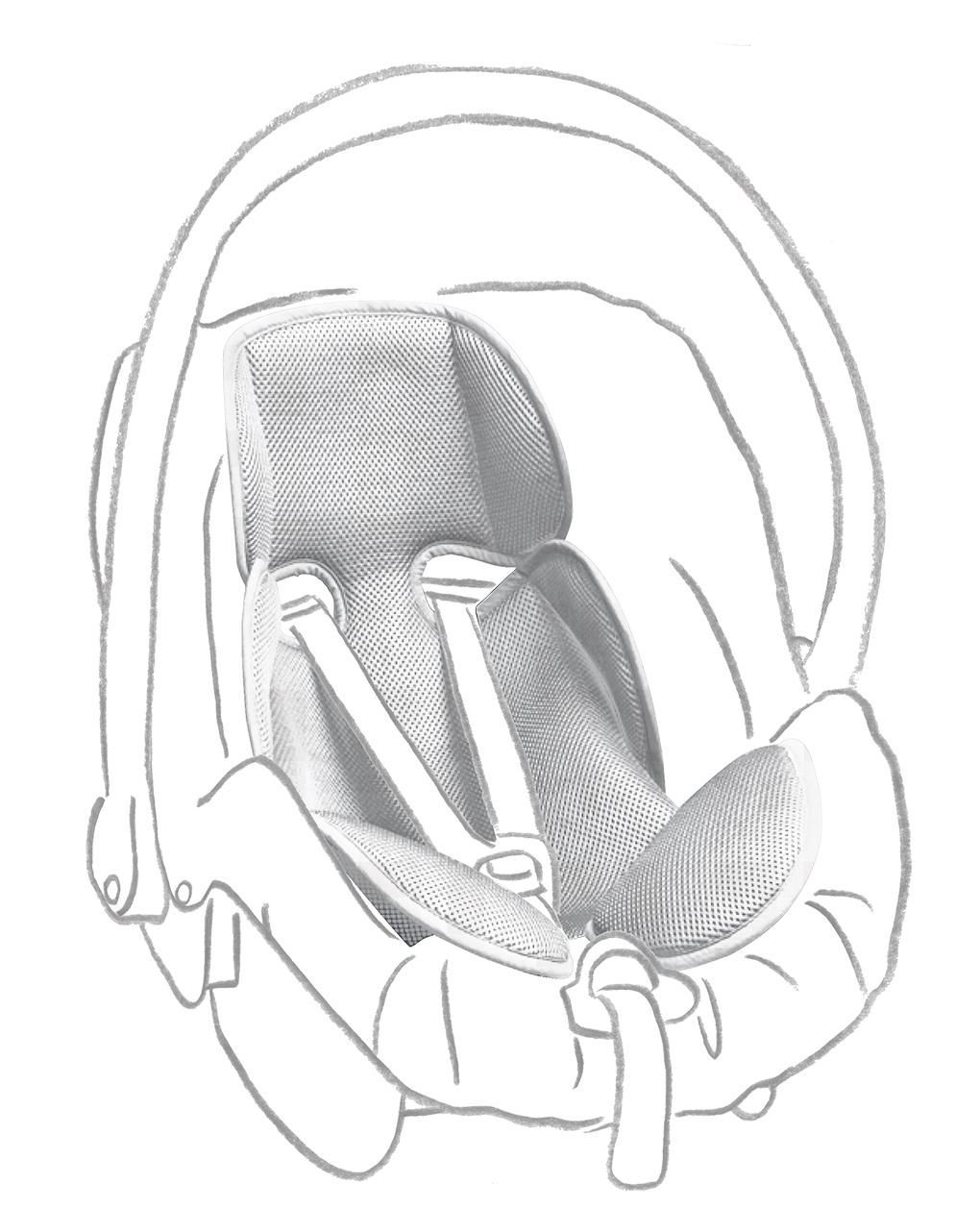 Giordani Στρώμα Αφρού Για Κάθισμα Αυτοκινήτου Γκρουπ 0+ Γκρι