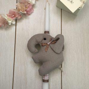 La joie  Λαμπάδα Ελέφαντας Καφέ 5698