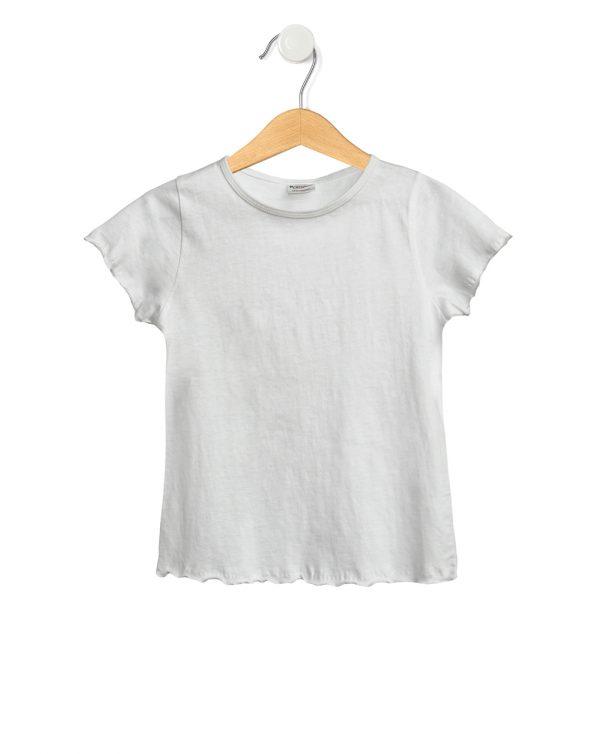 T-Shirt Jersey Basic Λευκό Μεγ.8-9/9-10 Ετών για Κορίτσι