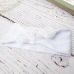 Βρεφική Κορδέλα για τα Μαλλιά Λευκή με Τούλι