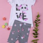 Σετ T-shirt Κολάν Καρό για Κορίτσι