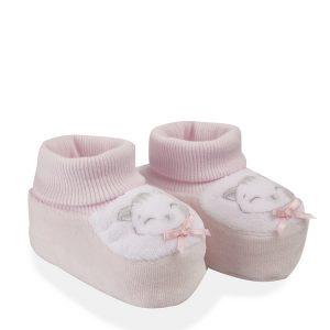 Βρεφικά Παπούτσια Αγκαλιάς Σενίλ Ροζ για Κορίτσι