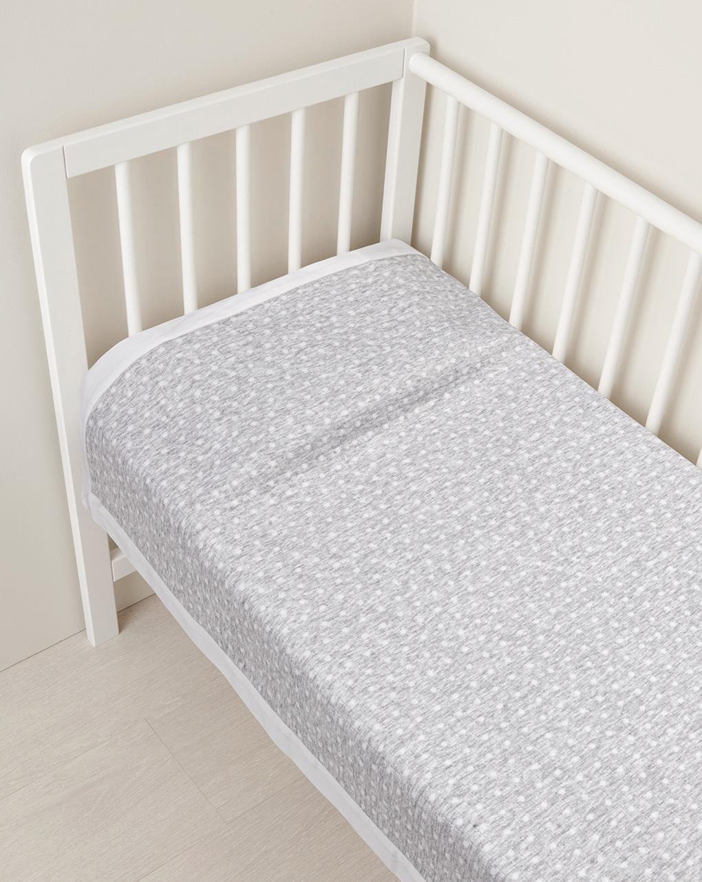 Κουβέρτα για Λίκνο Καλοκαιρινή Jersey Γκρι Ανοιχτό - 70 x 80 cm