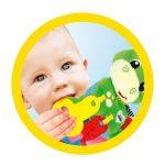 Baby Clementoni Βρεφικό Παιχνίδι Κουδουνίστρα Δεινοσαυράκι 2 Σε 1 1000-17215