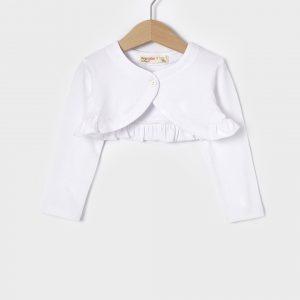 Ζακέτα Μπολερό Jersey Λευκό για Κορίτσι