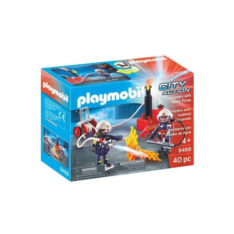 Playmobil Πυροσβέστες Με Αντλία Νερού 9468