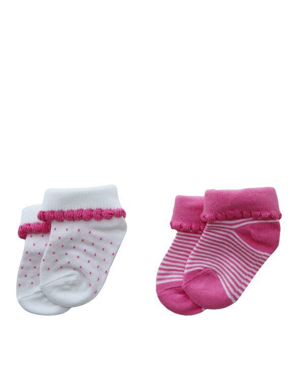 Κάλτσες Βαμβακερές Πακέτο Χ2 για Κορίτσι