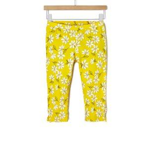 Κολάν Jersey 3/4 Κίτρινο με Λουλούδια για Κορίτσι
