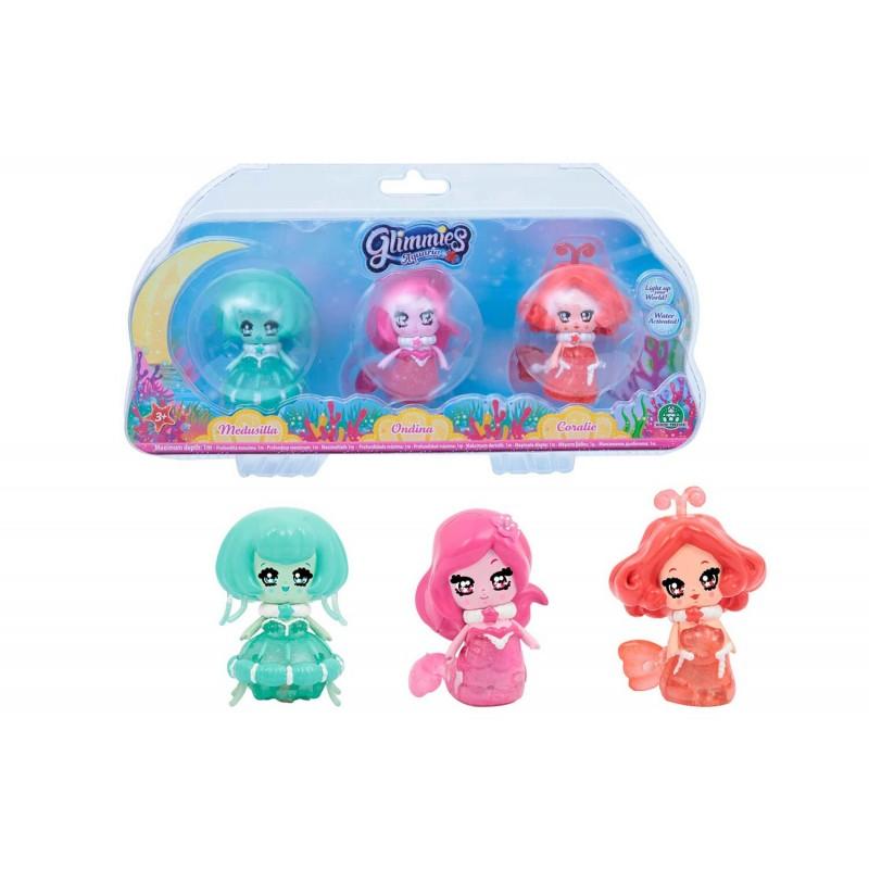 Glimmies Aquaria Σετ 3 Κούκλες GLA02010