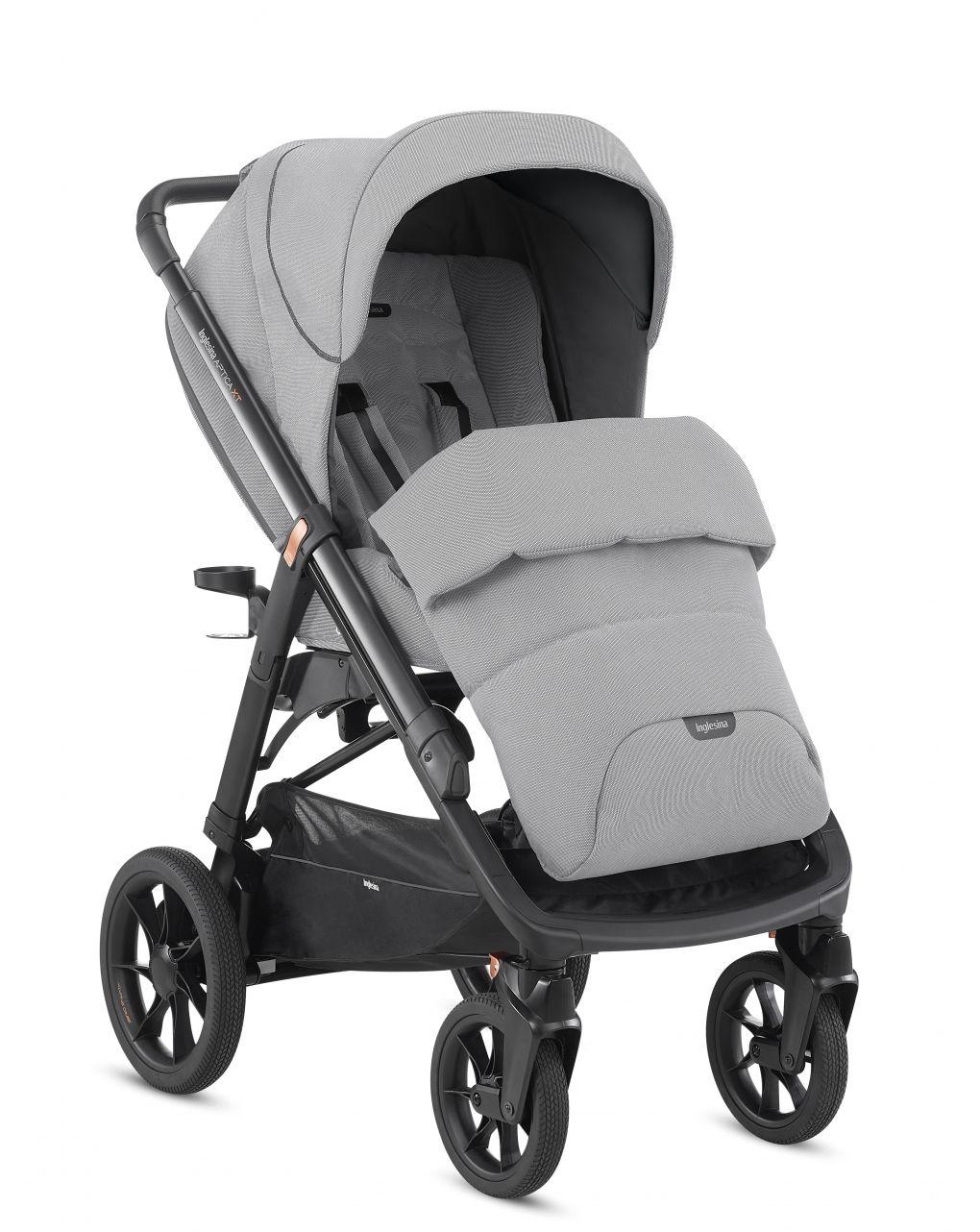 Inglesina Σύστημα Μεταφοράς Aptica XT Quattro Horizon Grey με κάθισμα αυτοκινήτου Cab