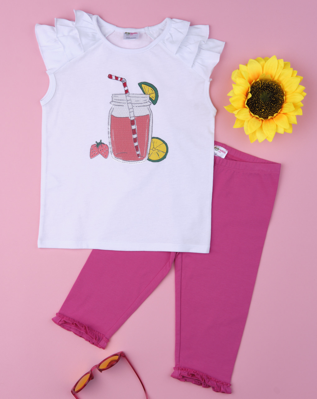 Σετ T-Shirt και Κολάν 3/4 Jersey για Κορίτσι
