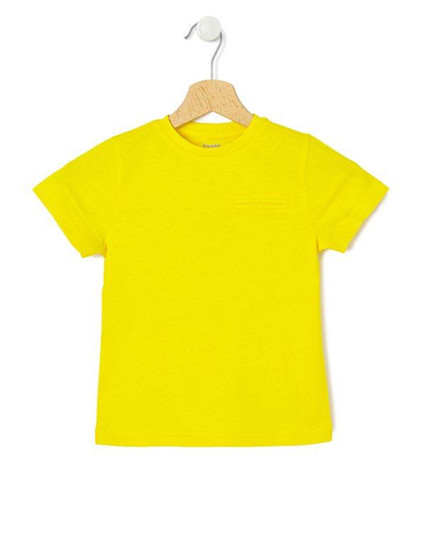 T-shirt με Κοντά Μανίκια Κίτρινο για Αγόρι
